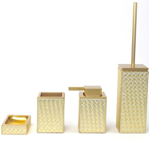 Marrakech Gold Faux Leather Thermoplastic Resins Accessory Set