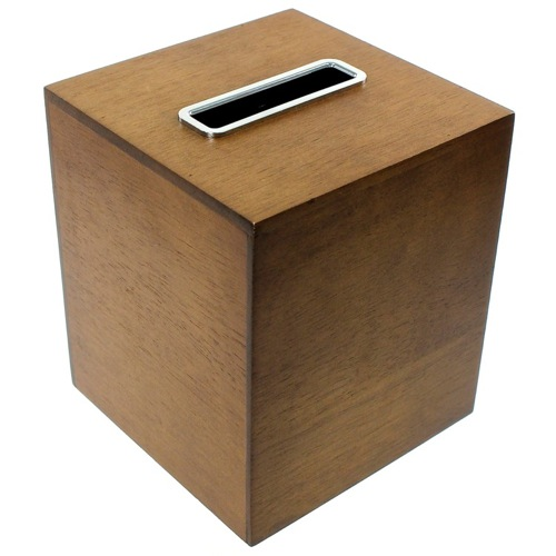 Tissue Box Made From Wood in a Brown Finish
