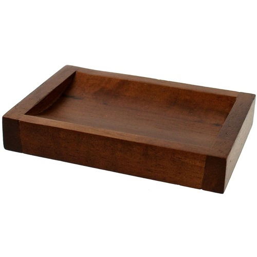 Rectangular Soap Dish with Brown Finish