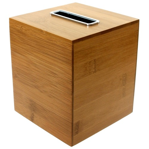 Square Bamboo Tissue Box