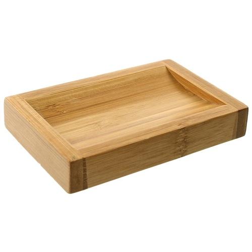 Rectangular Wood Bathroom Soap Dish