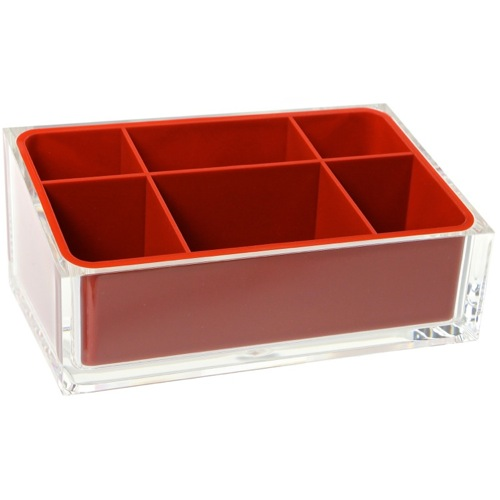 Make-up Tray Made of Thermoplastic Resins in Red Finish