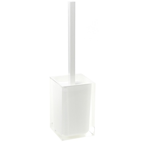 Modern Toilet Brush Holder in White