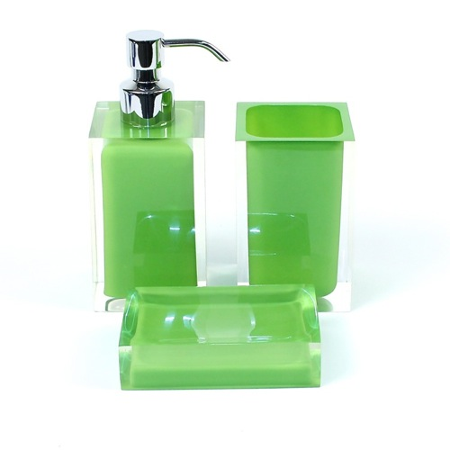 Green Accessory Set of Thermoplastic Resins with 3 Pieces