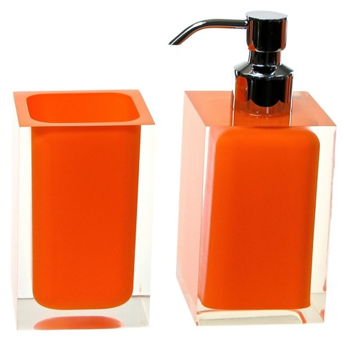 Orange 2 Pc. Accessory Set Made With Thermoplastic Resins