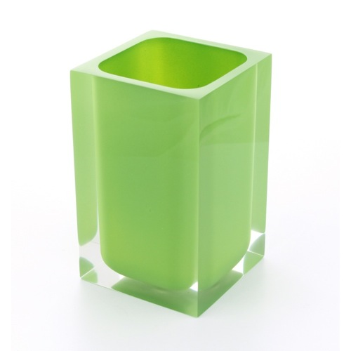 Square Acid Green Toothbrush Holder