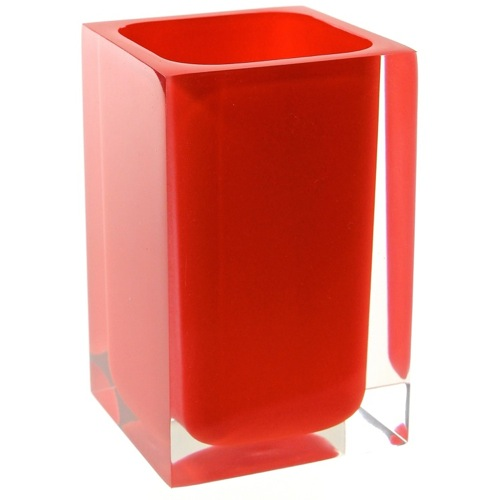 Square Red Toothbrush Holder