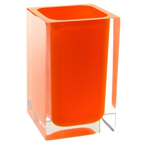 Square Orange Toothbrush Holder