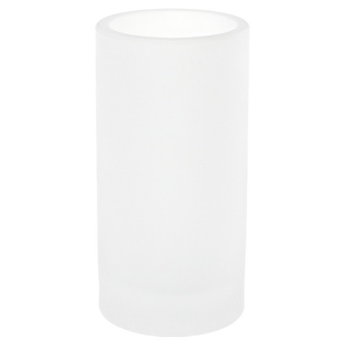 Free Standing White and Glass Tumbler