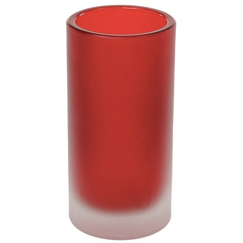 Free Standing Red Glass Tumbler
