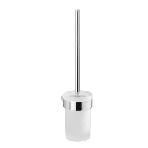 Wall Mounted Frosted Glass Toilet Brush