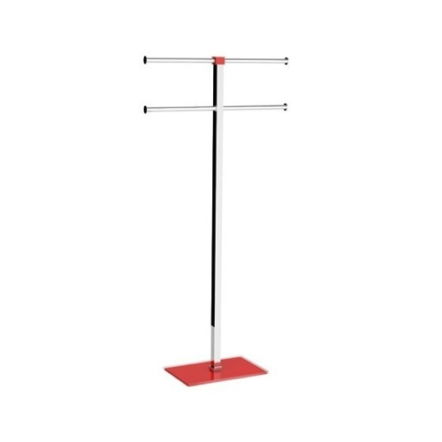 Red Towel Holder in Steel and Resin
