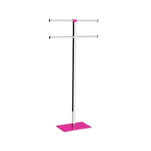 Steel and Resin Pink Towel Holder