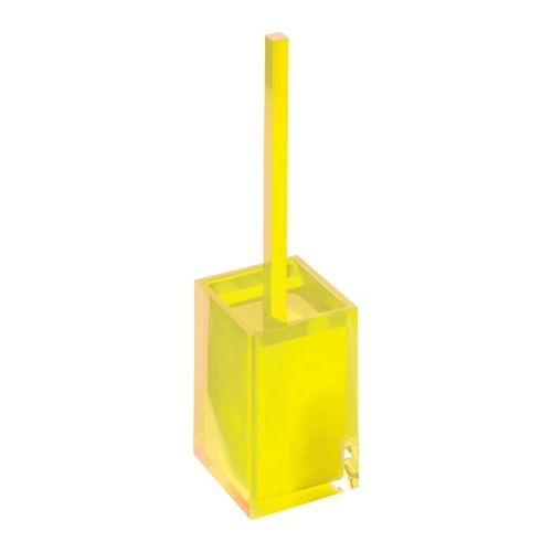 Yellow Thermoplastic Resins Toilet Brush Holder