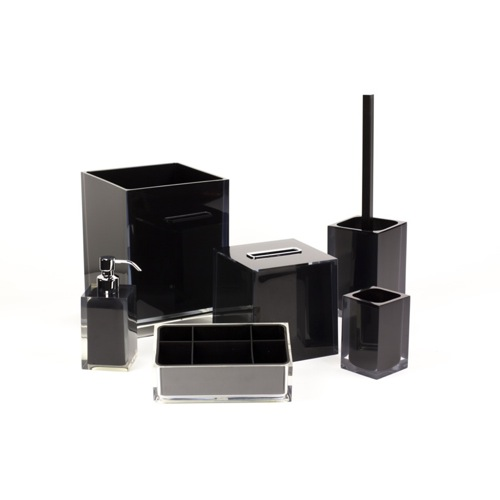 6 Piece Black Accessory Set in Thermoplastic Resin