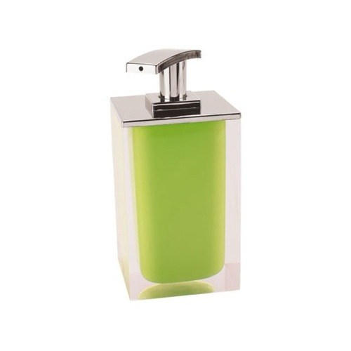 Square Soap Dispenser Made From Resin in Green Finish