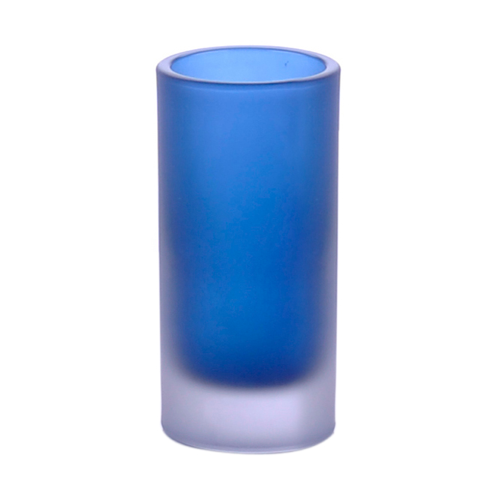 Blue Free Standing Toothbrush Holder in Glass