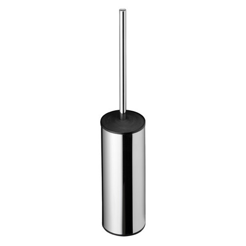 Round Free Standing Chrome Toilet Brush