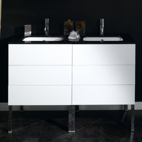 4 Drawers Vanity Cabinet with Undermount Sink
