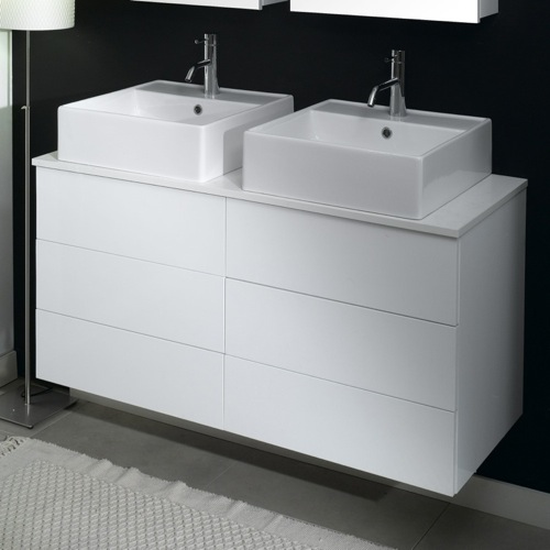 4 Drawers Vanity Cabinet with Vessel Sink