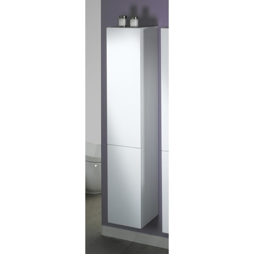 Tall Storage Cabinet in Glossy White