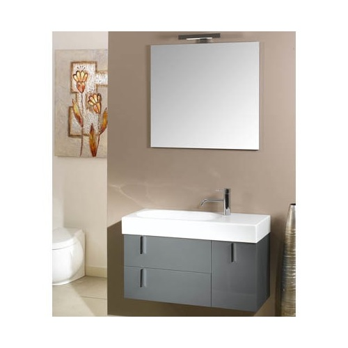 Bathroom Vanity, Iotti NE3, Modern Bathroom Vanity Set with Mirror, Ceramic Sink, and Vanity Cabinet NE3