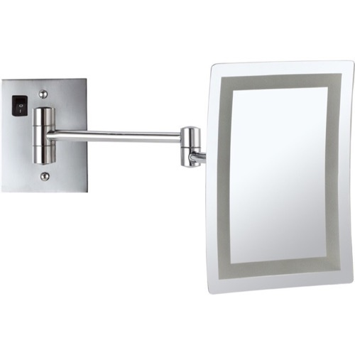 Wall Mounted Square LED 3x Makeup Mirror