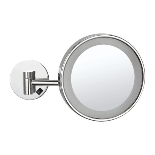 Wall Mounted Single Face 3x Makeup Mirror with LED