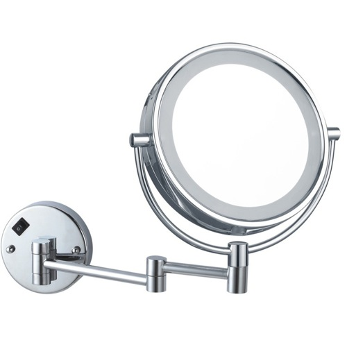 Double Face Round LED Magnifying Mirror, Hardwired