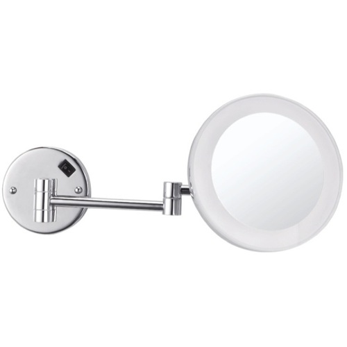 Round Wall Mounted 3x Makeup Mirror with LED