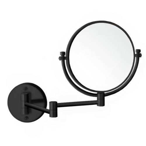 Matte Black Double Sided Wall Mounted 5x Makeup Mirror