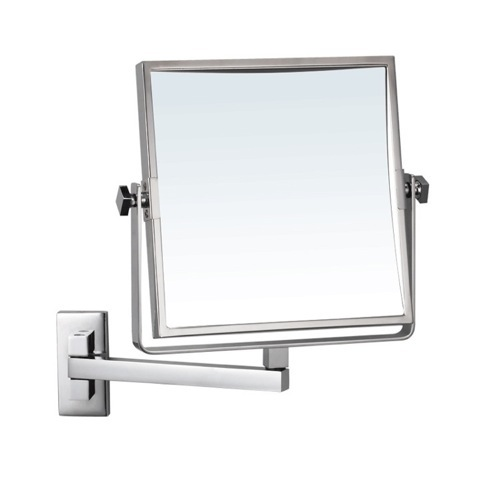 Square Wall Mounted 3x Makeup Mirror