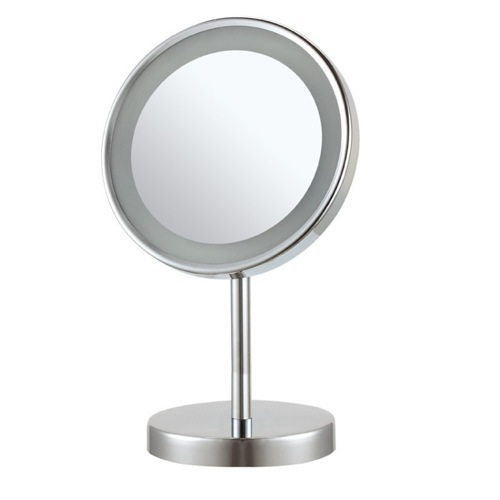 Round Free Standing 3x LED Makeup Mirror
