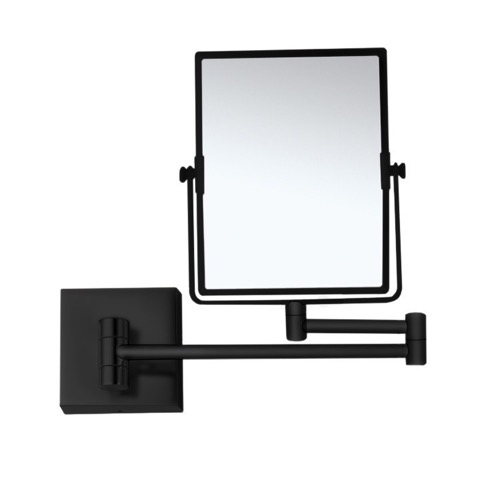 Matte Black Double Face 5x Wall Mounted Magnifying Mirror