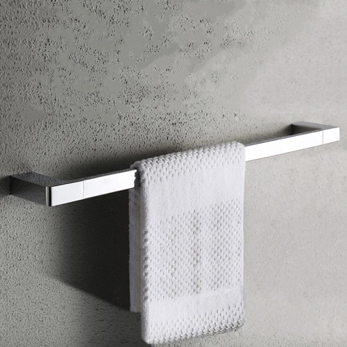 24 Inch Modern Chrome Towel Bar