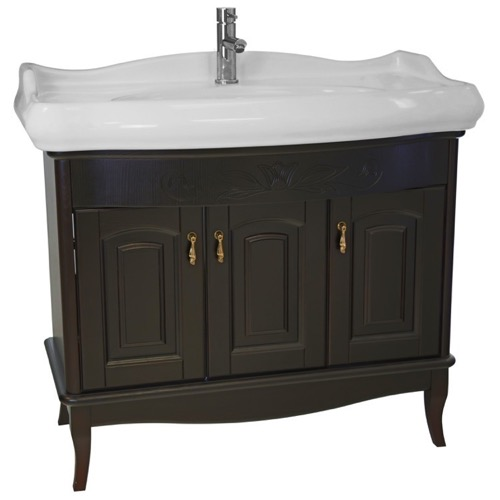 39 Inch Floor Standing Calvados Vanity Cabinet With Fitted Sink