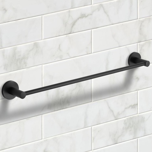 25 Inch Matte Black Towel Bar