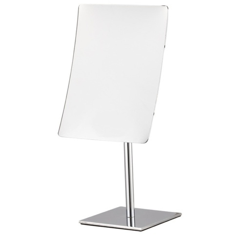 Rectangular Chrome 3x Makeup Mirror