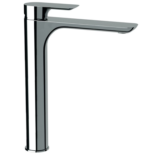 Chrome Sink Faucet With Tall Neck Made From Brass