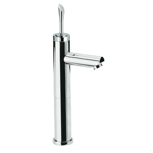 Single-Lever Sink Mixer With High Neck In Chrome Finish