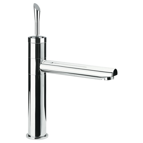 Single-Lever Sink Mixer With Movable Spout In Chrome Finish