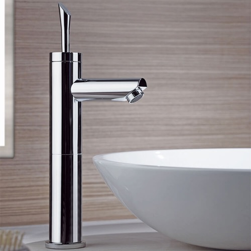 Chrome Round Single Lever Vessel Sink Faucet