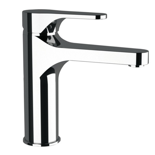 4 Inch Neck Bathroom Faucet Made From Chromed Brass