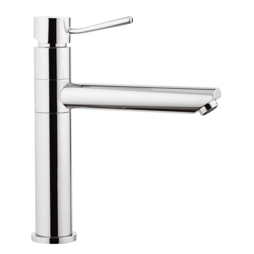 Chrome Single-Lever Sink Mixer With Movable Spout