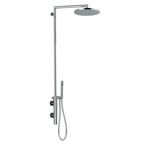 External Thermostatic Shower Single Lever Mixer Shower Set with Hand Shower and Shower Head