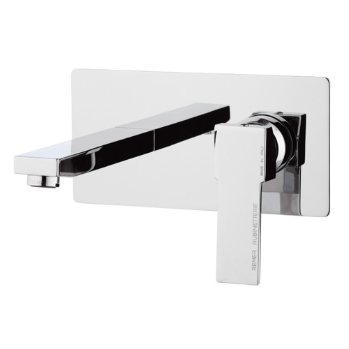 Brass Rectangular Built in Basin Mixer in Chrome