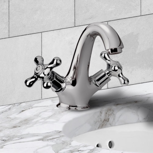 One Hole Washbasin Mixer With Click-Clack Pop-Up Waste