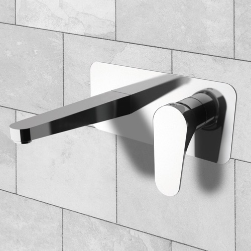 Rectangular Wall Mounted Basin Mixer With Single Lever