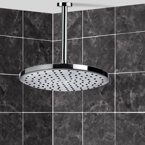 Rain Function Shower Head with Chrome Shower Arm