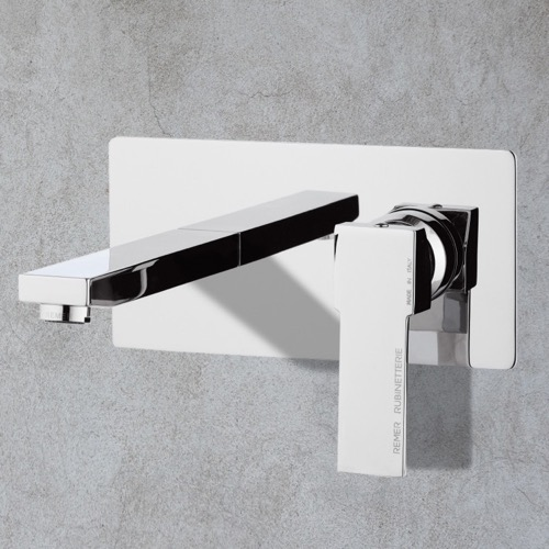 Chrome Single Handle Wall Mount Bathroom Sink Faucet